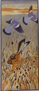 Hare and Woodpigeons