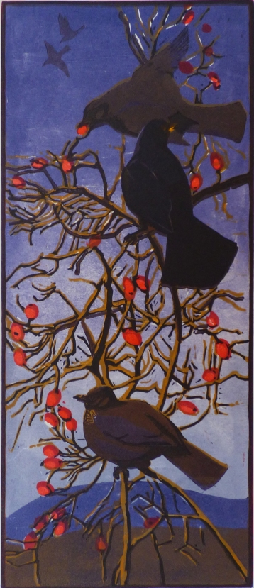 Blackbirds and Rosehips