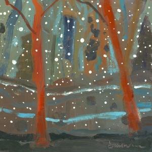 Tracks Through A Winter Wood